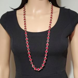 Chico's Ruby Red Rhinestone Necklace